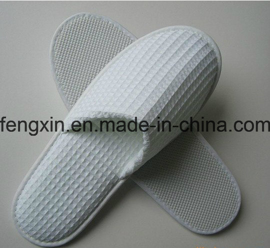 High Quality Logo Pringting White Disposable Hotel Slipper