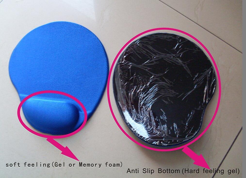 Custom Logo Mousepad with Soft Gel Wrist Rest Support an Elastic Fabric Surface