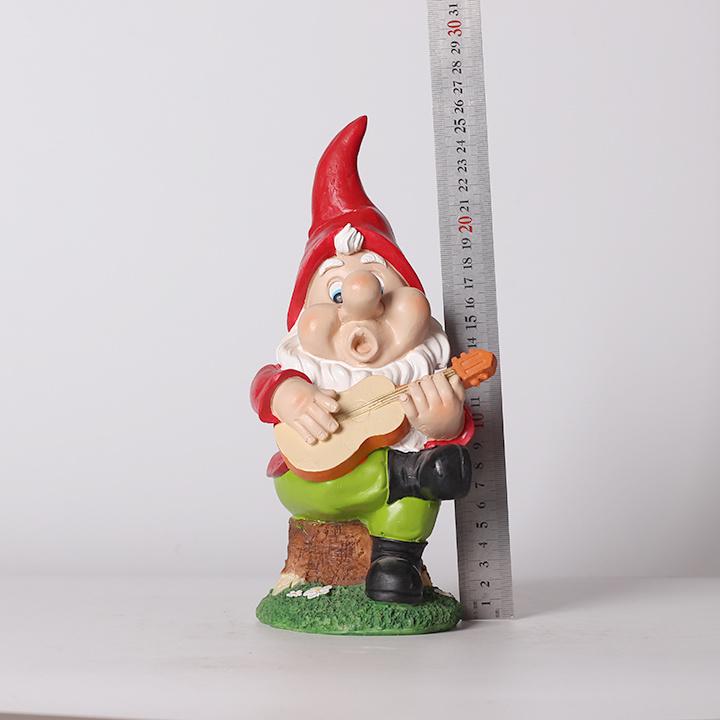 Resin Gnome Playing Guitar Garden Decor