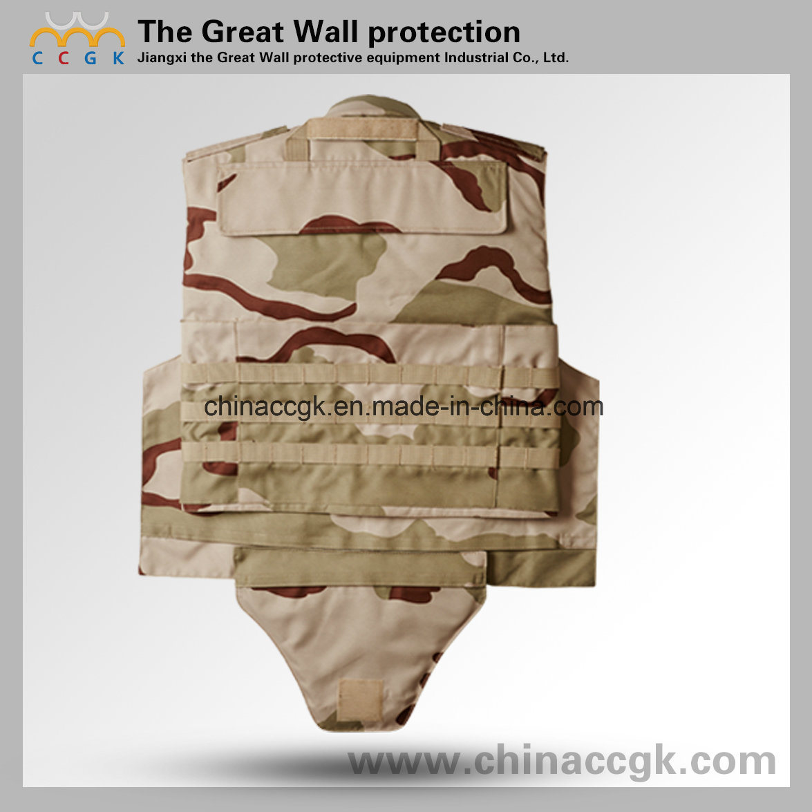 Desert Camouflage Full Protection Bulletproof Vest