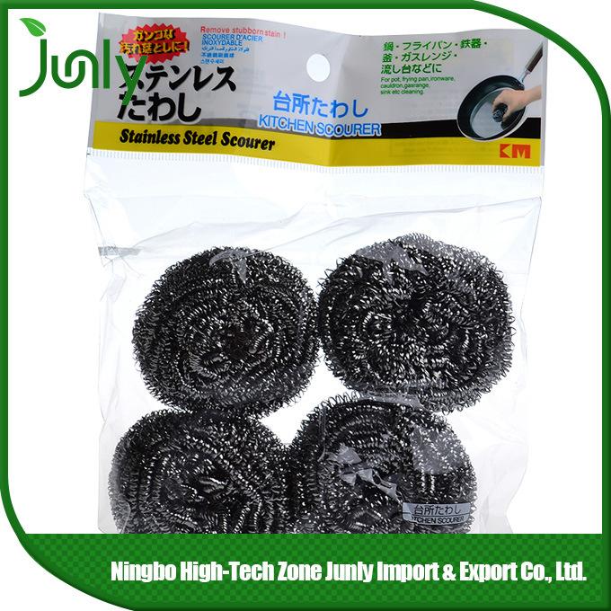 Pot Scourer Stainless Steel Cleaning Ball spiral Scourer