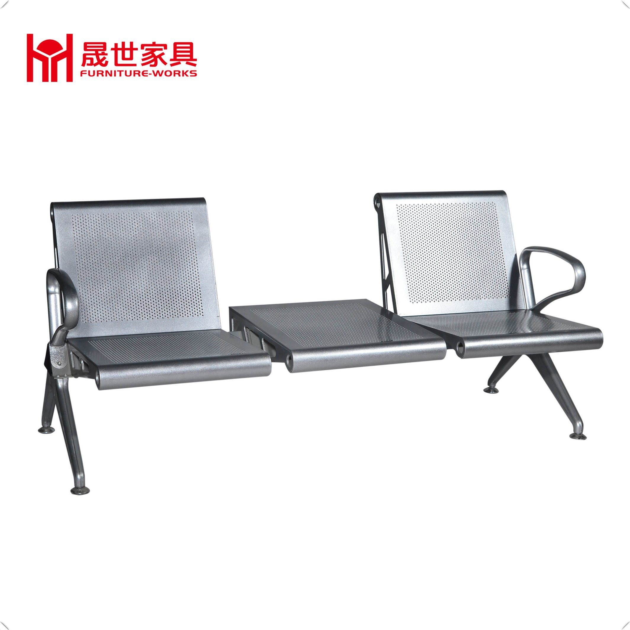 China Public Metal Steel 3 Seater Cheap Waiting Room Chairs for