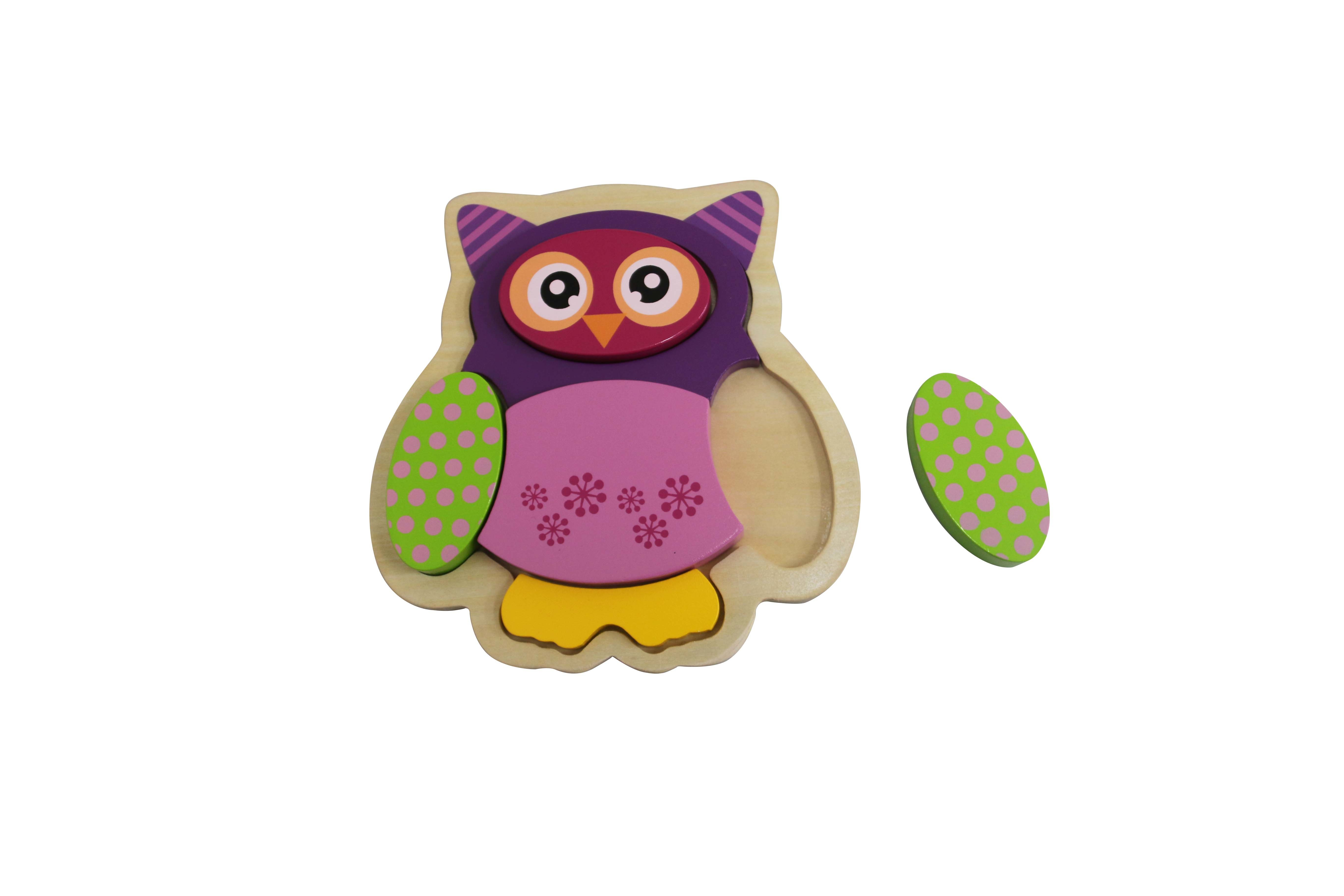 Wooden Owl Puzzle Toy for Kids and Children