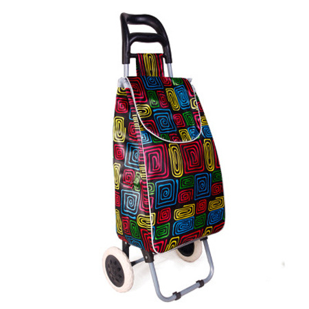 Supermarket Shopping Equipment Trolley Bag with Waterproof Satian Foam Material
