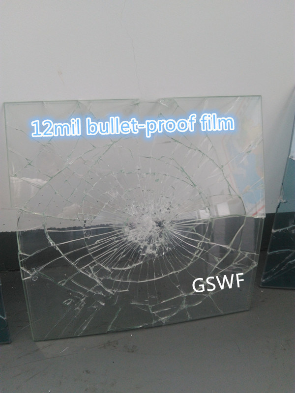 High Quality 12mil Bullet-Proof Safety and Security Window Film