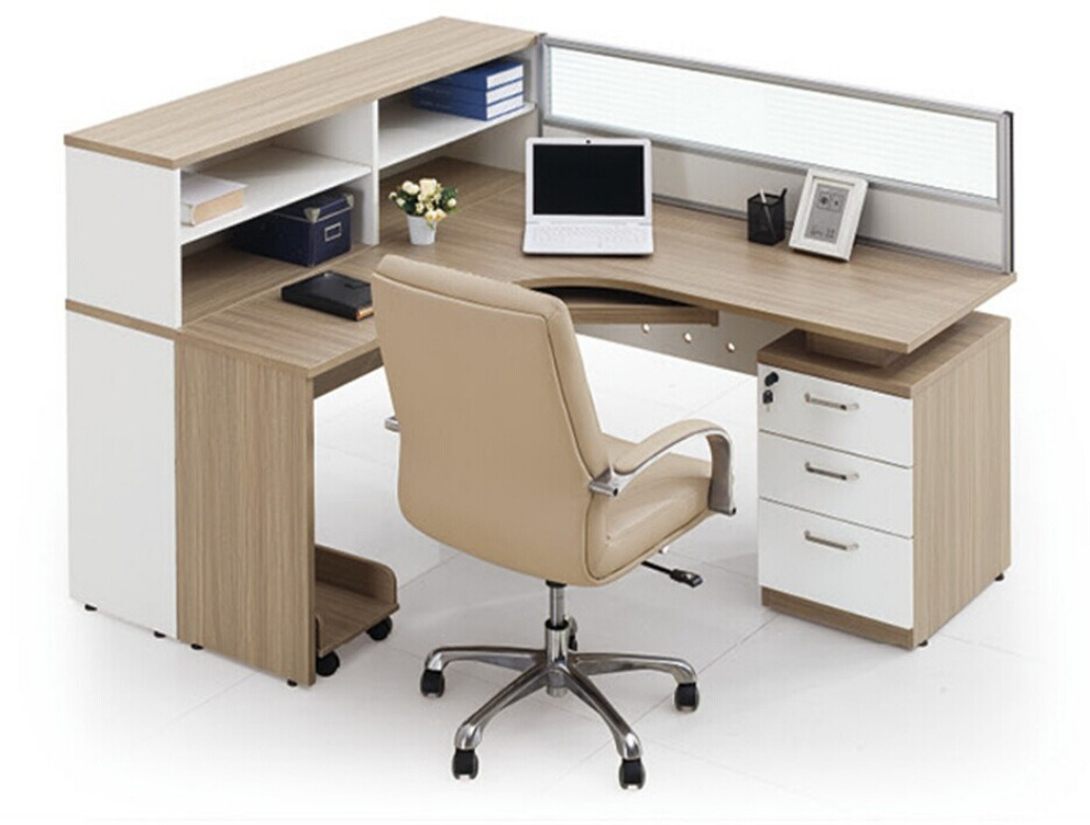 Modern Aluminum Glass Wooden Cubicle Workstation / Office Partition (NS-NW024)