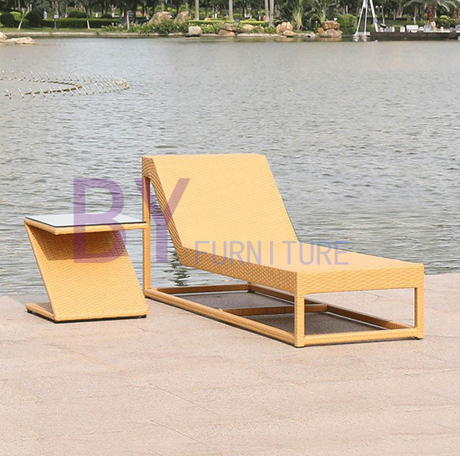 Boyue Beach Lying Bed PE Rattan Furniture