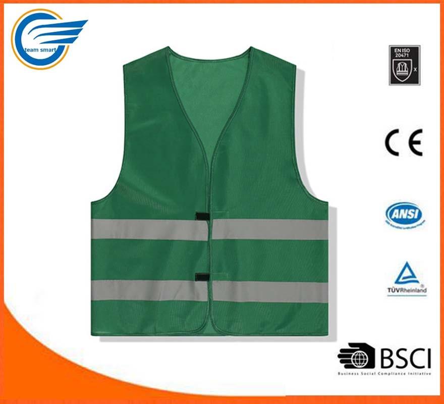 Two Horizontal Strip High Visibility Reflective Warning Jacket
