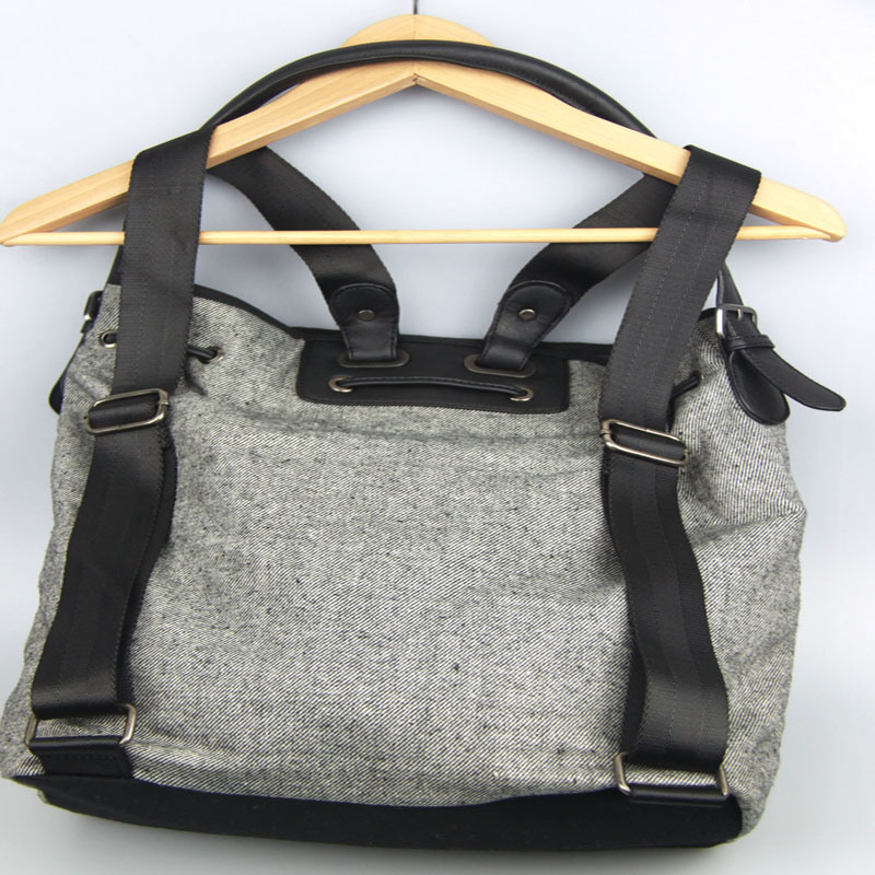 Multi Fountion Canvas Handbag Ladies Canvas Backpack Fashion Accessory Supplier