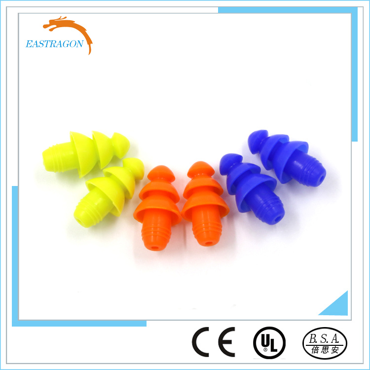 Wholesale Hearing Protection Comfortable Silicone Earplugs