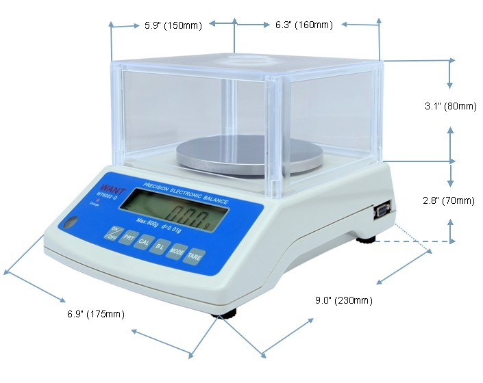 300g 0.01g Electronic Balance with RS232