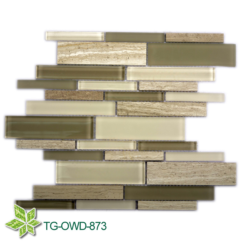 Bathroom Wall Glass Mosaic Tile (TG-OWD-873)