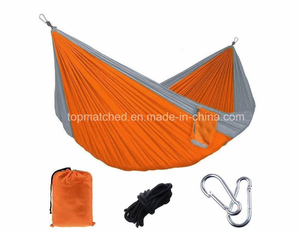 Rocking Folding Portable Camping Double Parachute Nylon Hammock