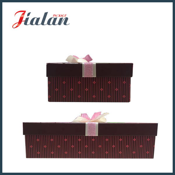 High Quality Wholesale UV Finish Gift Paper Box with Bows