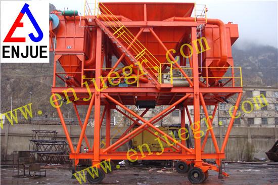 Rubber Tyre Wheels Type Dust Proof Port Hopper for Bulk Cargo Mobile Unloading