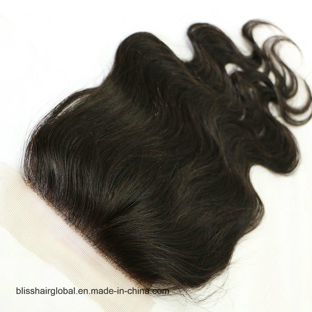 Bliss Hair 4X4 Lace Silk Base Closure Three/Free/Middle Part Top Swiss Silk Base Lace Closure Body Wave Peruvian Virgin Human Hair Closures Pieces