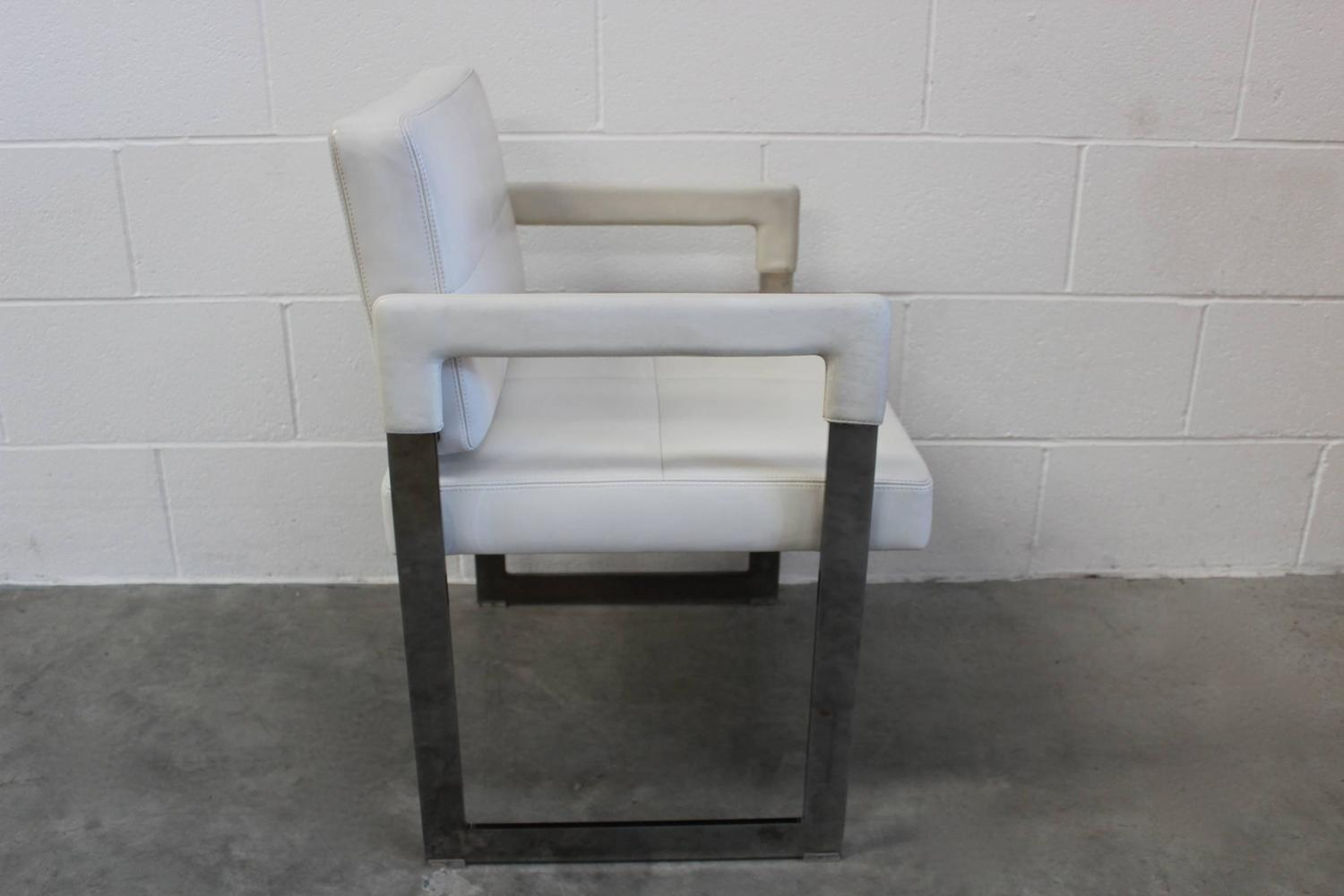 Jean-Marie Massaud Aster X Chairs / Famous Design Dining Chair / Leather Restaurant Chair