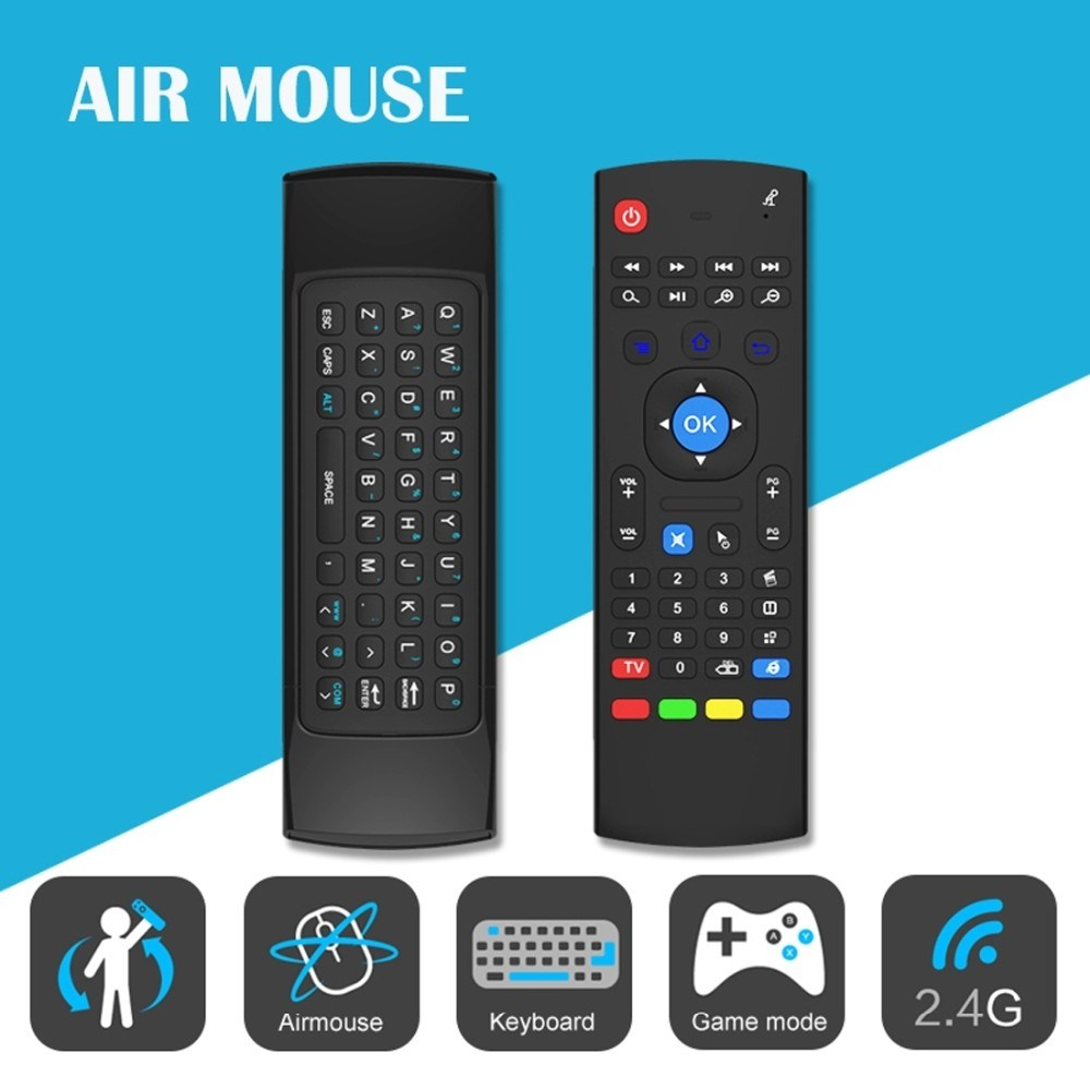 Mx3 Keyboard and Mouse Air Mouse Wireless for Android TV Box