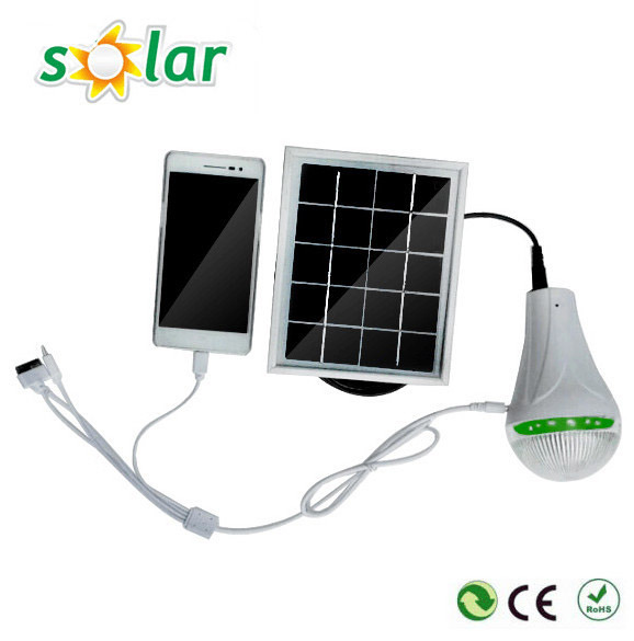 2016 Newest Mini Solar Light; Solar Light with Charger; Solar LED Bulb with Charger