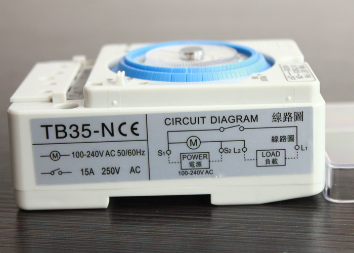 Tb-35 / Tb35-N AC110V-220V 10A Mechanical Timer Manual /Auto Control Timing Range 24h Time Switch with Battery