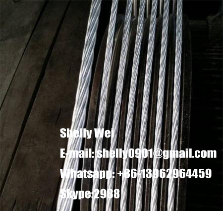 Ehs Galvanized Steel Wire Strand ASTM A475, ASTM a 363, ASTM B498, BS183 BS443, IEC, GB Standard