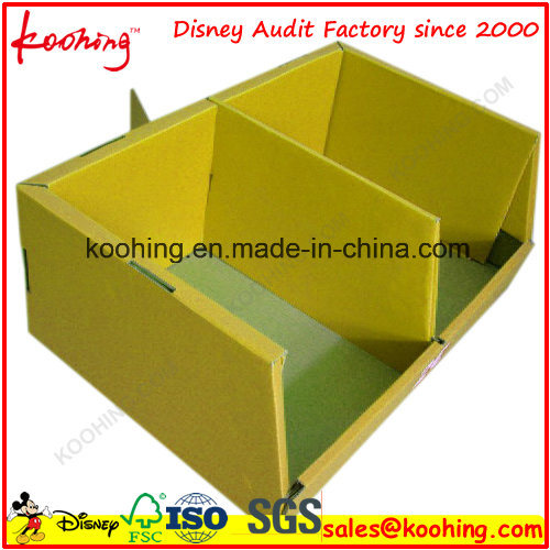 Blue Corrugated Cardboard PDQ Display Box Pop Paper Display