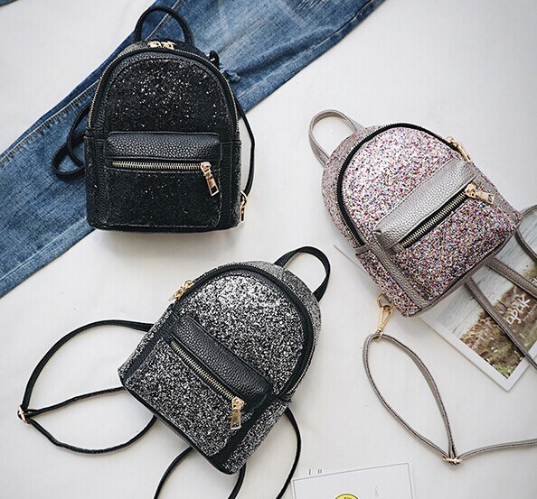 Wholesale 2017 New Backpack, Women′s Mini Sequined Fashion Shoulder Bag (BDMC130)