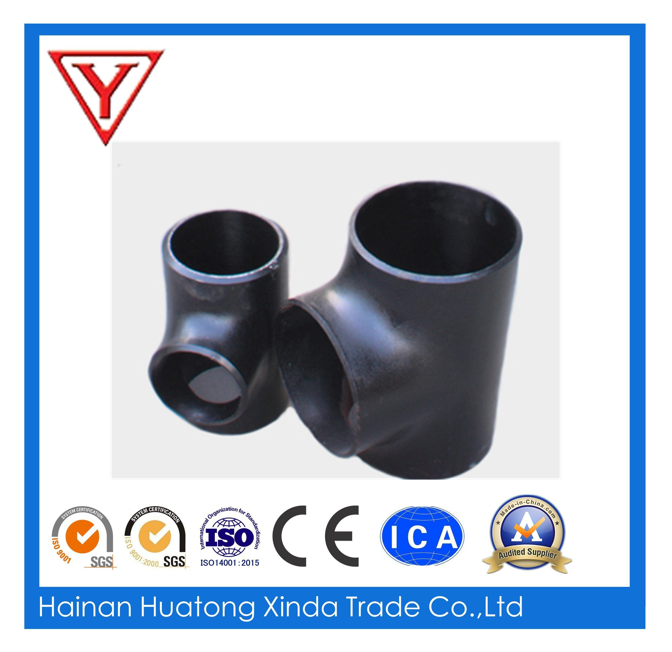 ASME B16.9 A420 Wpl6 Carbon Steel Pipe Fitting Equal Tee with Ce (KT0039)