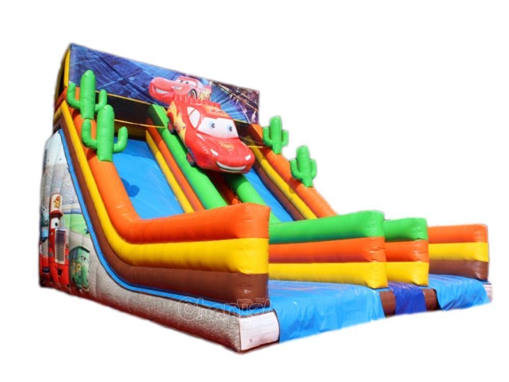 Cars Inflatable Double Slide, Inflatable Dry Slide for Adults Chsl654