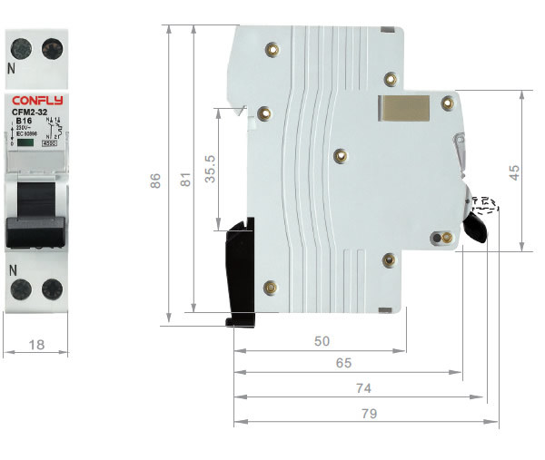 Cfm2-32 Miniature Circuit Breaker Ce RoHS Approved MCB
