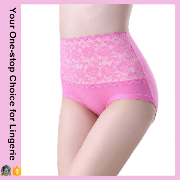 Women Body Shaping High Waist Lace Panties (14308)