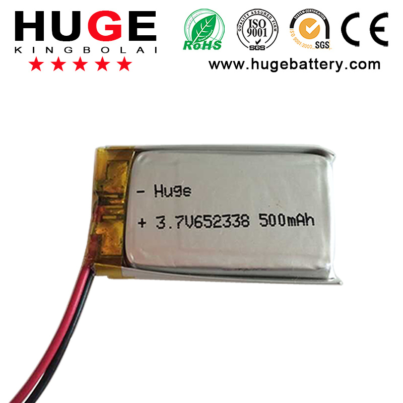 3.7V Li-Polymer Battery 500mAh with Customized Size