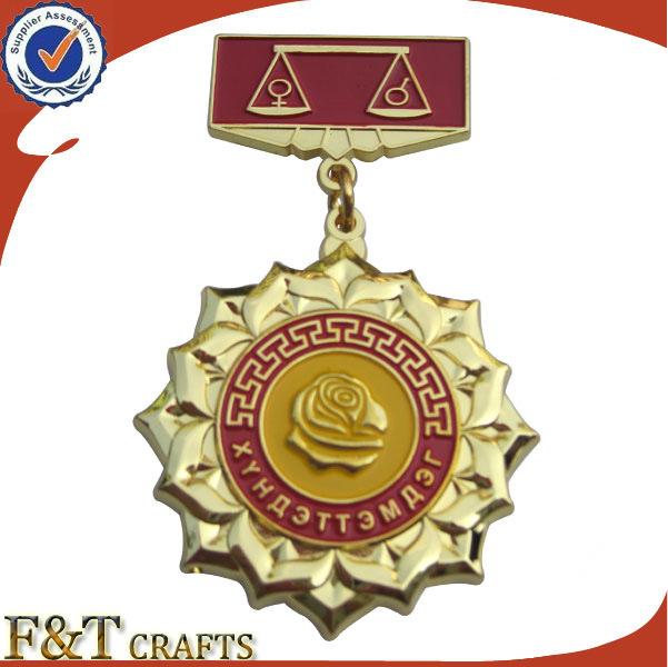 Souvenir Awarding Honor Military Metal 3D Medal Insignia (FTMD1370A)