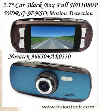 "Hot Sale 2.7"" FHD 1080P Car Digital DVR Car Black Box Recoder with Novatek 96650; Aptina Ar0330 5.0mega Car Parking Camera, Night Vision; G-Sesnsor; DVR-2712"