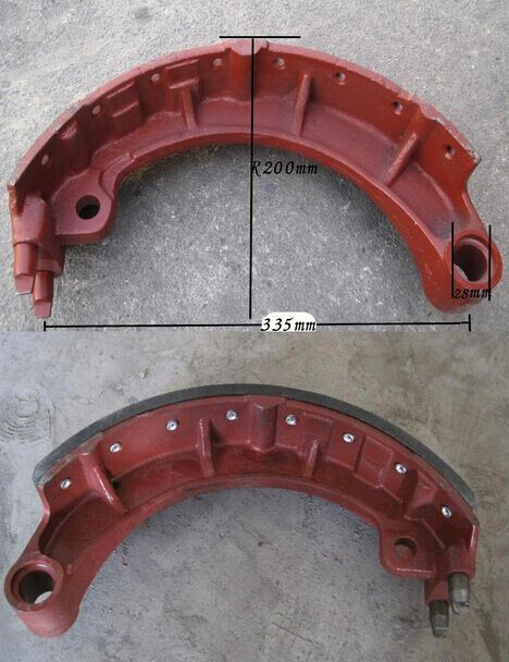 High Quality Russia Truck Ural Brake Shoe 375-3501090