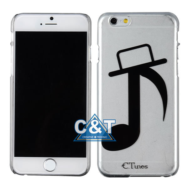 Music Notes Clear Hard Cell Phone Cover for iPhone 6