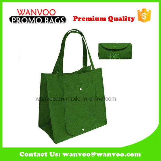 Promotion Foldable Non Woven Large Storage Wine Tote Bag Supermarket Shopping Handbag