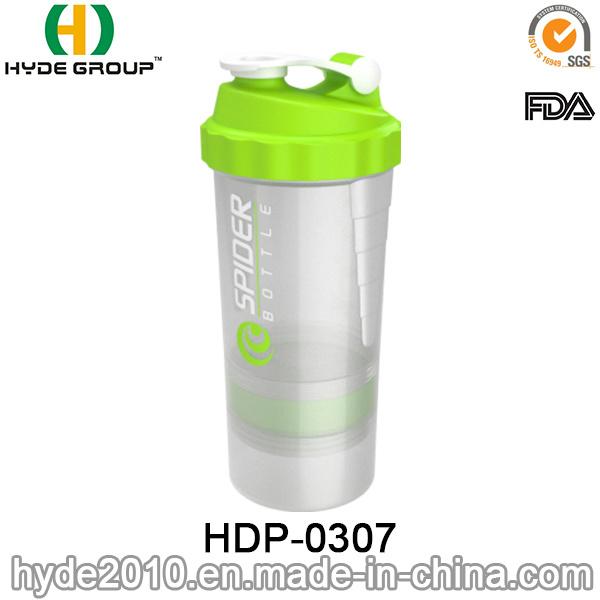 500ml BPA Free Plastic Spider Shaker Bottle, Plastic Protein Shaker Bottle (HDP-0307)