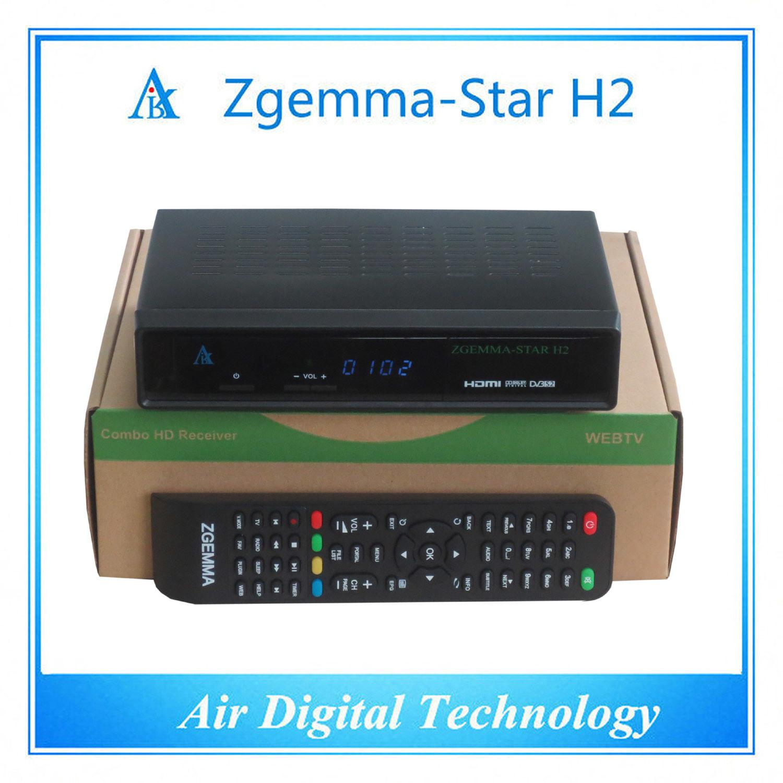 Italy TV Decoder DVB T DVB T2 + DVB S2 Zgemma-Star H2
