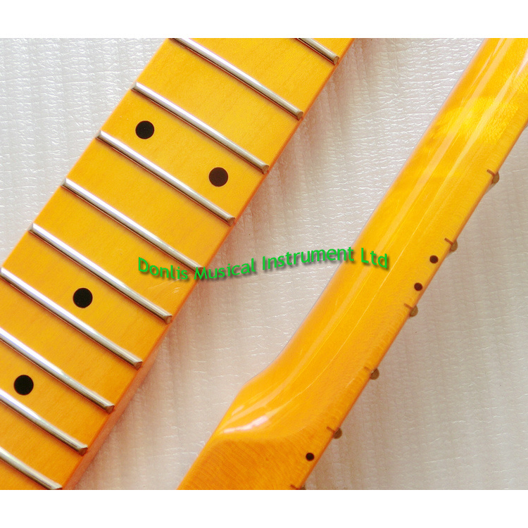 22 Fret Gloss Finished Canadian Maple Strat Guitar Neck