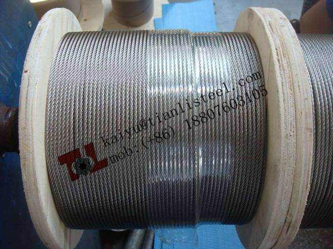 BS En12385 1.4301 A2 304 7X19 Stainless Steel Wire Rope
