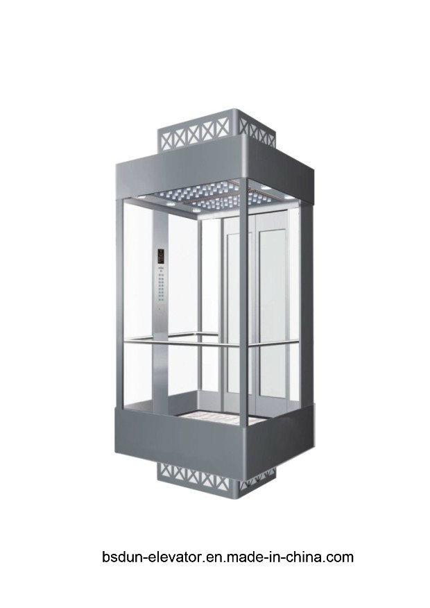 Vvvf Gearless Machine Room Observation Passenger Elevator by Huzhou Manufacturer Factory Mr