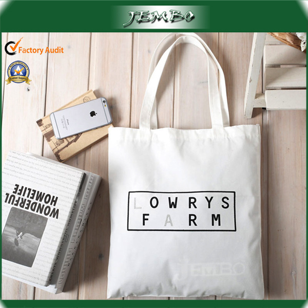Reusable Natural White Canvas Shopping Bag for Grocery
