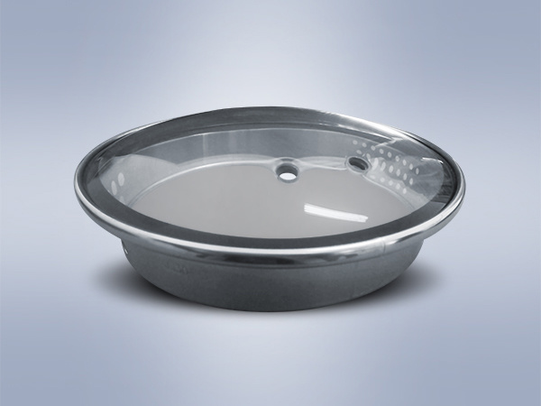 L-Type Normal Printing-Ink Tempered Glass Lid