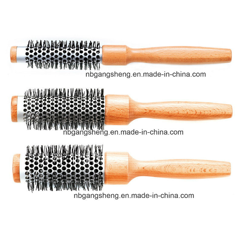 Round Thermal Wooden Brush Set Make up Brush 9514