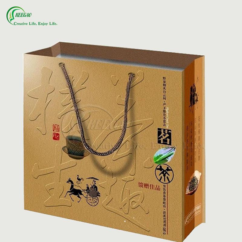 Embossed Logo Paper Packaging Bag (KG-PB059)