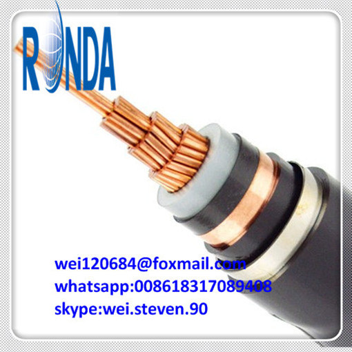 Underground 1.8KV 3KV XLPE Insulated Copper Tape Screen Power Cable