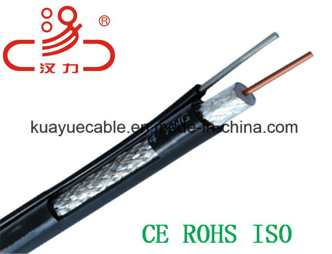 Rg11 Coaxial Cable +Steel Wire/Computer Cable/ Data Cable/ Communication Cable/ Connector/ Audio Cable