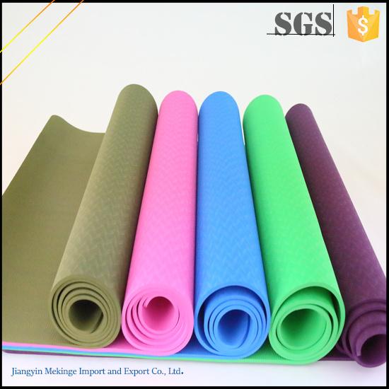 Fashionable TPE Yoga Mat, Yoga Mat Eco Made in China