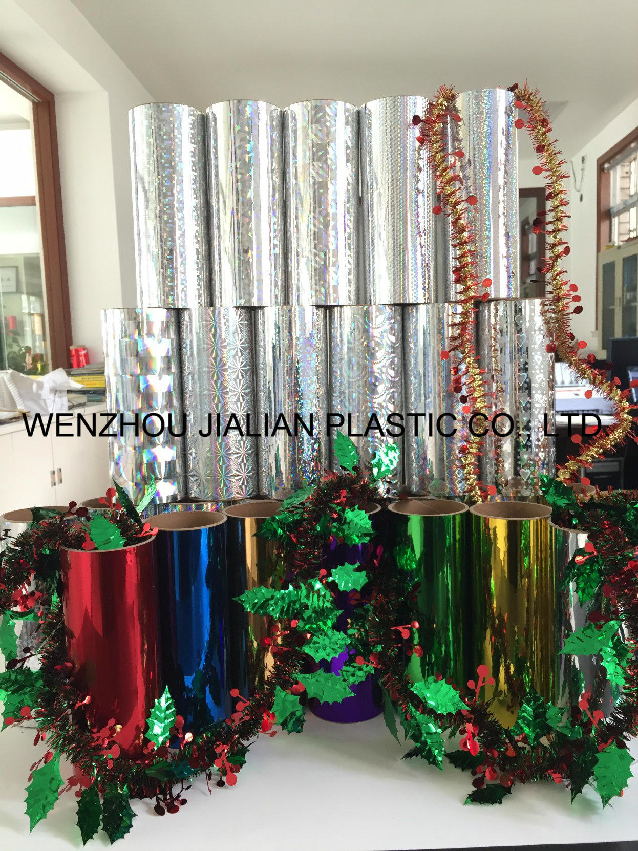 Rigid Hologram /Laser PVC Film for Christmas Decorations